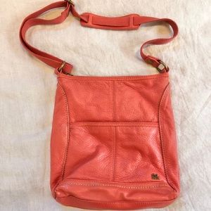 The Sak Orange Leather Crossbody Purse